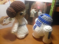 Leia and R2D2